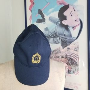 Disneyland Club 33 Blue Gold Baseball Cap